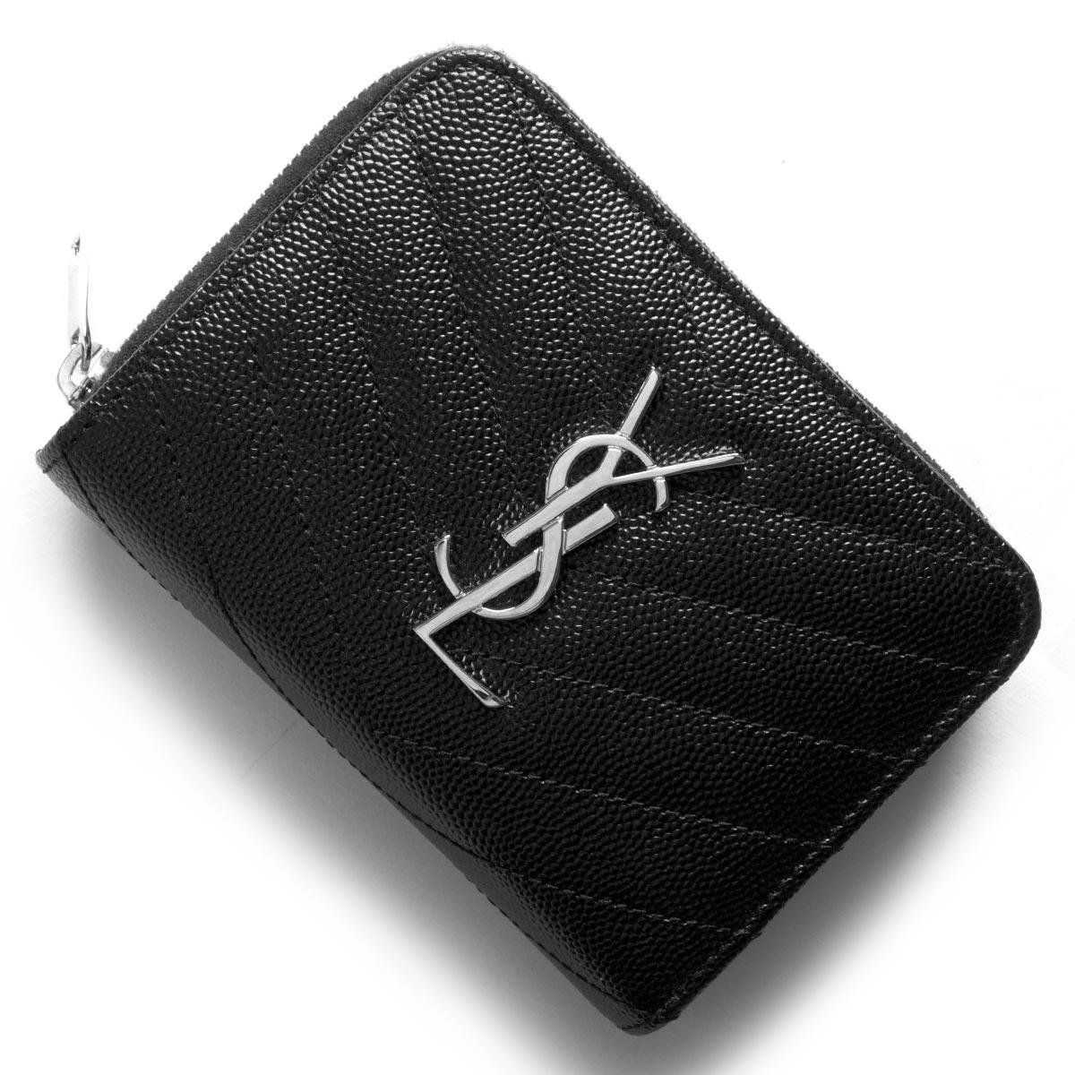 サンローランパリ イヴサンローラン 財布 二つ折り財布 財布 レディース モノグラム MONOGRAMME YSL ブラック 403723 BOW02 1000 SAINT LAURENT PARIS