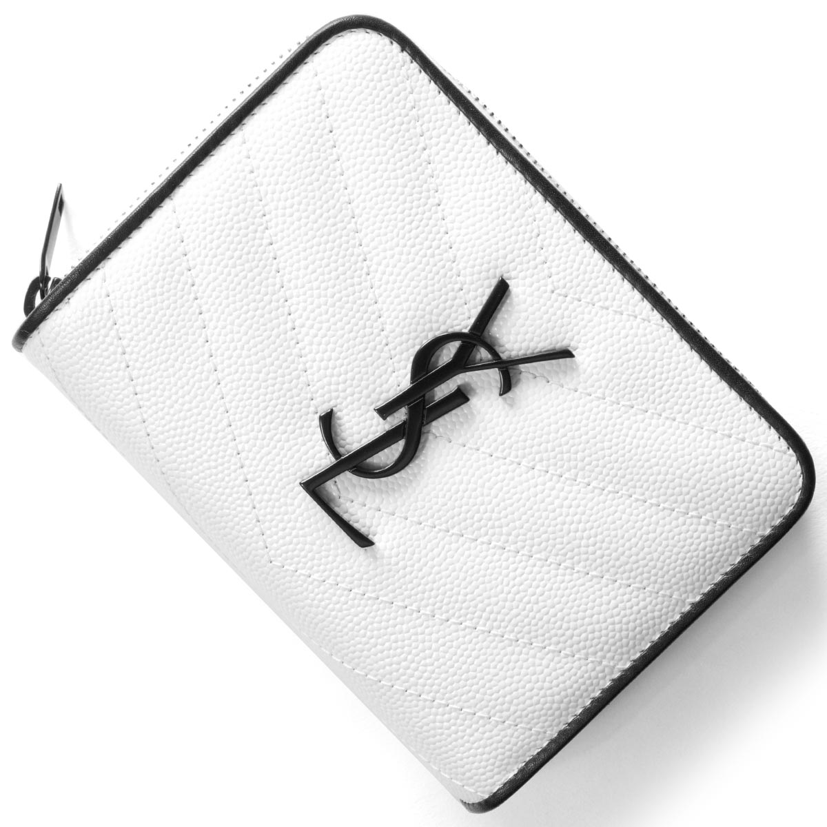 サンローランパリ イヴサンローラン 財布 二つ折り財布 財布 レディース モノグラム MONOGRAMME YSL ブランオプティックホワイト&ブラック 403723 BOWC8 9070 SAINT LAURENT PARIS