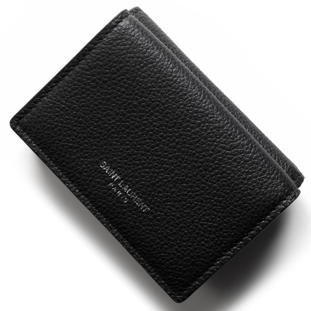 サンローランパリ イヴサンローラン 財布 三つ折り財布/ミニ財布 財布 レディース ブラック 459784 B680N 1000 SAINT LAURENT PARIS バーゲン