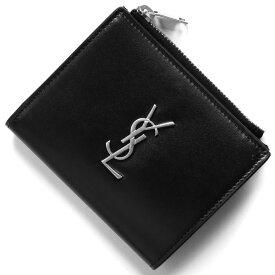 サンローランパリ イヴサンローラン 二つ折り財布 財布 メンズ レディース モノグラム YSL ブラック 529875 0SX0E 1000 SAINT LAURENT PARIS