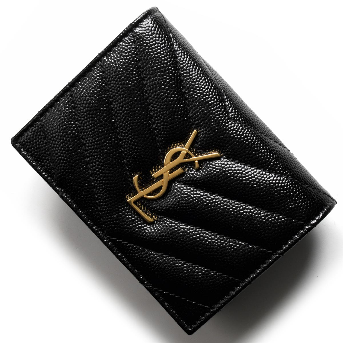 サンローランパリ イヴサンローラン 財布 二つ折り財布 財布 レディース モノグラム YSL ブラック 530841 BOWA1 1000 SAINT LAURENT PARIS バーゲン