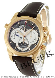 Omega-Devil コーアクアシャル 4648.60.37 Rattrapante RG pure gold chronograph Leather Brown mens
