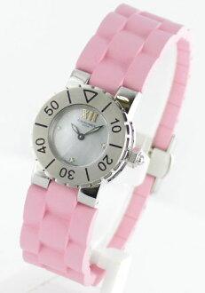 Chaumet class one 3 P diamond rubber pink / brushed women's W06204-09B watch clock