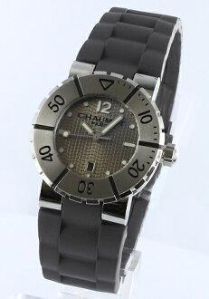 ショーメクラスワンラバーチャコール / champagne gold Lady's W17222-33C watch clock