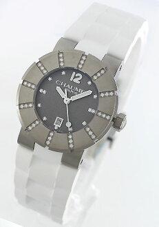 ショーメクラスワンチタンダイヤモンドラバーホワイト / gray Lady's W1722E-33N watch clock