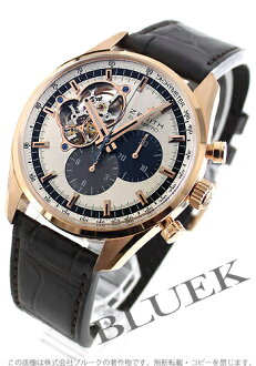 Zenith ZENITH El Primero chronograph master pure gold alligator leather mens 18.2040.4061/69.C494 watch clock