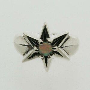 【ピンキーリング】星のピンキー 10月 誕生石 オパール シルバー925 指輪 シンプル STAR スター【1号 2号〜】【送料無料】【RCP】【コンビニ受取対応商品】