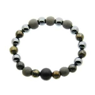 Natural stone bracelet power stone bracelet natural stone power stone bracelet black silica style Bracelet (black) small and even stones