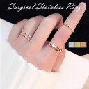リング 指輪 4mm マリッジリング k18コーティング 甲丸 ステンレスリング ペアリング 7〜22号 大人可愛い シンプル 金…
