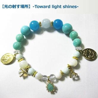05P19Jun15 Immanoel (Imano L) xBLUE LOTUS (blue Lotus Development Corporation) nature stone charity bracelet Amulet Bracelet