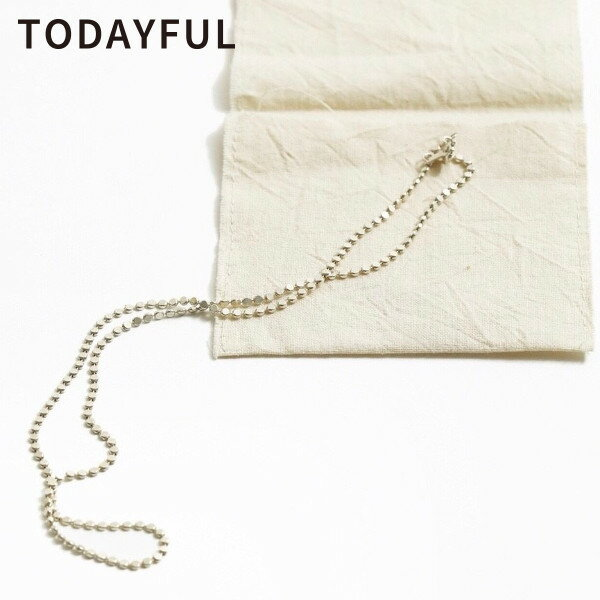 TODAYFUL トゥデイフル LIFE's ライフズFlat Chain Necklace(Silver925) フラットチェーンネックレス 指輪 11820991【2019S/S新作】【あす楽】【送料無料】≪1月19日入荷≫