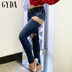 【再入荷!】GYDA ジェイダSIDE RIPPED スキニーデニムパンツ 072042490801【2020S/S】【あす楽】【送料無料】