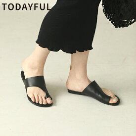 TODAYFUL 春夏 トゥデイフル LIFE's ライフズTong Leather Sandals トングレザーサンダル 12011047【2020S/S新作予約】【4月下旬-5月下旬お届け予定】≪1月22日予約開始≫