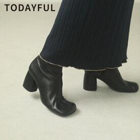 TODAYFUL トゥデイフル 秋冬 LIFE's ライフズSquare Short Boots スクエアショートブーツ 12021027【2020A/W新作予約】【10月下旬-11月下旬お届け予定】≪7月22日予約開始≫
