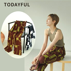 【SALE】【セール】【30%OFF】TODAYFUL トゥデイフル LIFE's ライフズGeometric Tuck Trousers ジオメトリックタックトラウザー  パンツ pants タックパンツ 12110727【2021SS新作】【あす楽】