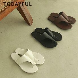 【SALE】【セール】【50%OFF】TODAYFUL トゥデイフル LIFE's ライフズTong Leather Sandals トングレザーサンダル 12111047 12011047【2021SS新作】【あす楽】