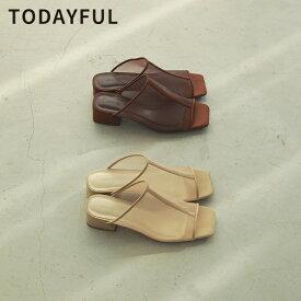 【SALE】【セール】【50%OFF】【再入荷!】TODAYFUL トゥデイフル 21夏アイテム 春夏 21夏 受注会 2021夏商品 LIFE's ライフズSheer Piping Sandals シアーパイピングサンダル 12011013 12111038【2021SS新作】【あす楽】【送料無料】