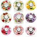 ドリームクロック 花時計 置き時計 おしゃれ 置時計 ドリームライト キャンドルホルダー ガラス キャンドルスタンド …