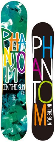 【スノーボード】PHANTOM IN THE SUN(ファントムインザサン)SLASH 153cm【206】【ラッキーシール対応】