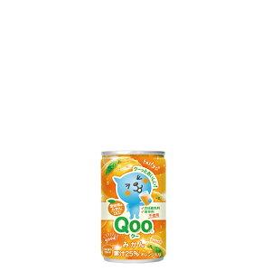 ミニッツメイド Qoo みかん 160ml 30本 (30本×1ケース) ミニ缶 フルーツ 果汁ジュース オレンジ