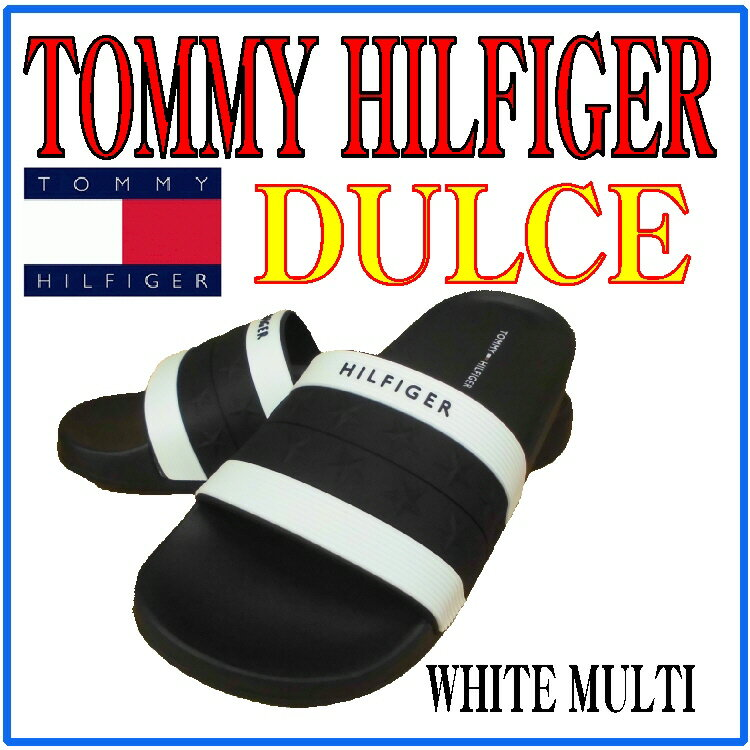 【カジュアルサンダル】【TOMMY HILFIGER】シャワーサンダル DULCE WHITE MULTI【470】【ラッキーシール対応】