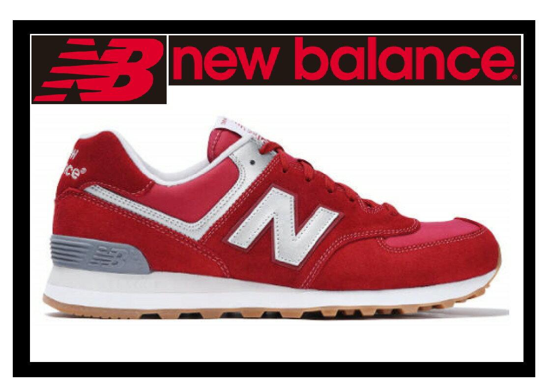 【カジュアルシューズ】【NEW BALANCE】ML574HRT RED/GRAY【470】