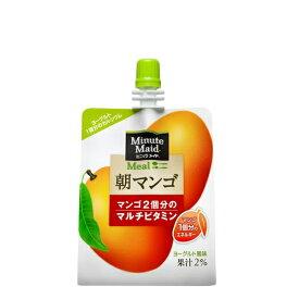 ミニッツメイド 朝マンゴ 180g 6本 (6本×1ケース) パウチ ゼリー飲料 ダイエット食品 低カロリー