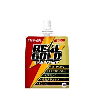 リアルゴールド ゼリー 180g 6本 (6本×1ケース) パウチ エナジーゼリー飲料 安心のメーカー直送 コカコーラ社