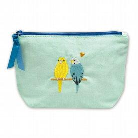 鳥シリーズ CLポーチ セキセイインコ 化粧ポーチ 小鳥 送料無料