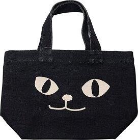 トートバッグ ネコマンアップ ブラック ミニトートバッグ 内ポケット付き お散歩バッグ お散歩やお弁当にピッタリなサイズです 猫 ネコ ねこ ネコマンジュウ NEKOMANJU 黒猫 フレンズヒル 送料無料