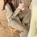 ルームウェア カップル 男女兼用 ペアルック 上下セット ルームウェア レディース メンズ パジャマ レディース 綿 前開き 春 秋 冬 可愛い 長袖 かわいい 上下セット 部屋着 セットアップ 暖か