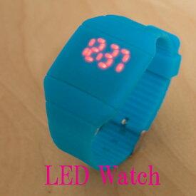 送料無料LEDシリコンウォッチ