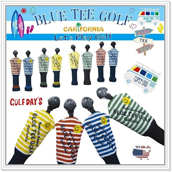 ☆ブルーティーゴルフ BLUE TEE GOLF California 【カリフォルニア ストライプ】 UT用 アクリル ニット ヘッドカバー【Tokyo新橋店】