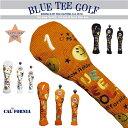 ☆ブルーティーゴルフ BLUE TEE GOLF California キャットハンド ヘッドカバーニット KNITスマイル&ピンボール アゲ…