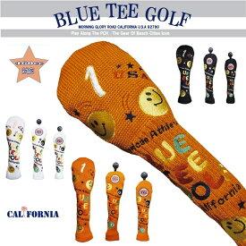 BLUE TEE GOLF California キャットハンド ヘッドカバー ニット KNIT スマイル&ピンボール アゲインストパー ☆ブルーティーゴルフ