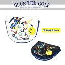 ☆ブルーティーゴルフ BLUE TEE GOLF California 【2018スマイル&カート】マレット型パターカバー