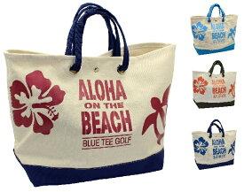 BLUE TEE GOLF California 大型トートバッグ【ALOHA ON THE BEACH】 TT-003 【Tokyo 新橋店】