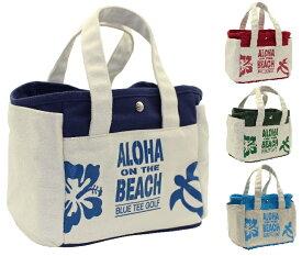 BLUE TEE GOLF California ラウンドトートバッグ【ALOHA ON THE BEACH】 TT-004 【Tokyo 新橋店】