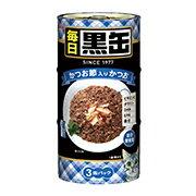 【アイシア】毎日 黒缶 かつお節入りかつお 160gx3P