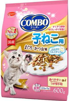 【日本ペット】コンボ キャット 子ねこ用 ミルクチップ添え 600gx12個(ケース販売)