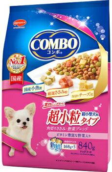 【日本ペット】コンボ ドッグ 超小型犬用 角切りささみ・野菜 840gx12個(ケース販売)