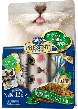 【日本ペット】コンボ キャット プレゼント ドライ まぐろと8種の野菜味 240g