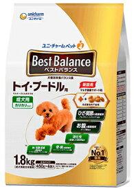 【ユニチャーム】ベストバランス カリカリ仕立て トイ・プードル用 1.8kgx4個(ケース販売)