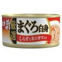 【日本ペット】ミオ 厳選まぐろ白身 しらすとカニカマ入り だし仕立て 80g