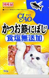【いなばペット】チャオ かつお節・にぼし入り 食塩無添加 50g CS−17