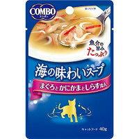 【日本ペット】コンボ キャット 海の味わいスープ まぐろとかにかまとしらす添え 40g