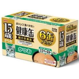 【アイシア】15歳からの健康缶 とろとろペースト かつお 40gx6P