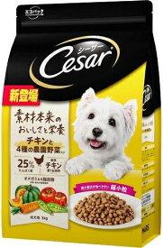 【マースジャパン】シーザードライ 成犬用 チキンと4種の農園野菜入り 超小粒 3kgx3個(ケース販売)