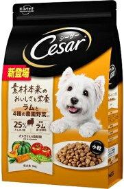 【マースジャパン】シーザードライ 成犬用 ラムと4種の農園野菜入り 小粒 3kgx3個(ケース販売)