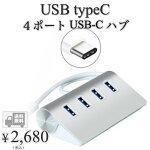 【送料無料】hanano4ポートUSB-CハブType-C搭載USB3.0端子不足を解消12インチNewアルミ